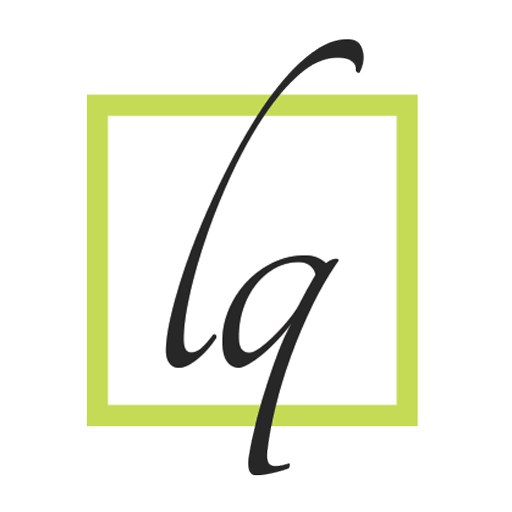 Leslie Quinsay logo icon lime green